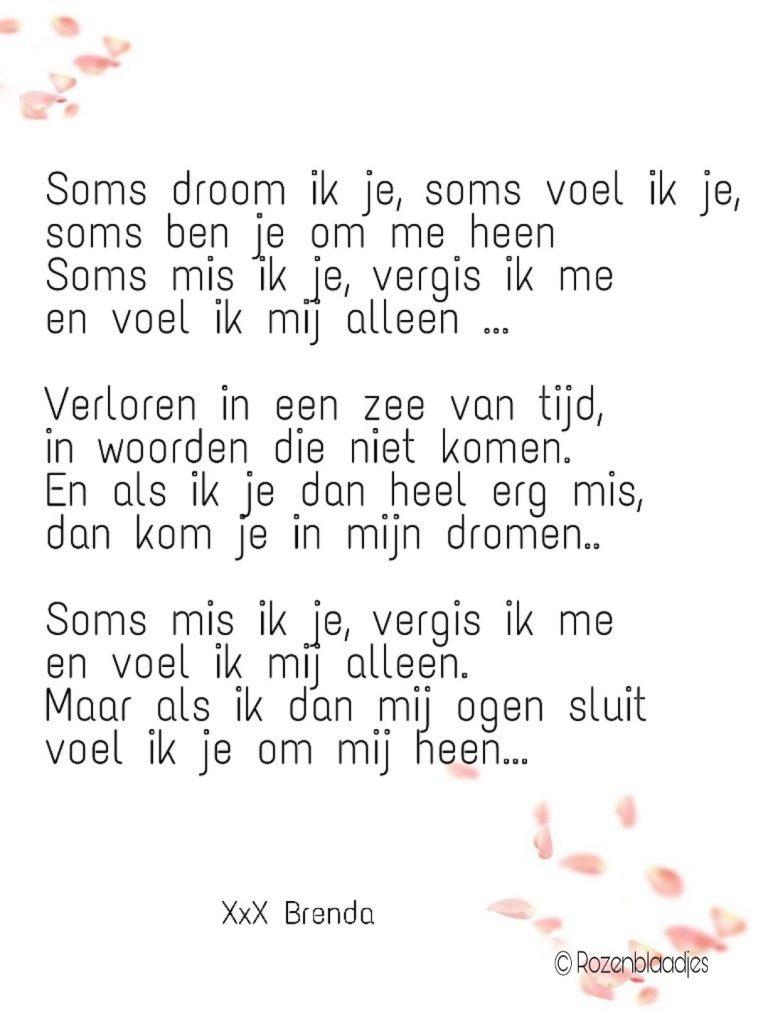 Soms droom ik je ....